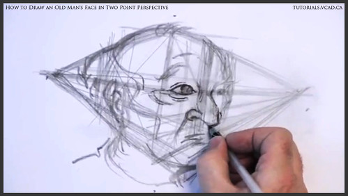 learn how to draw an old man's face in two point perspective 018