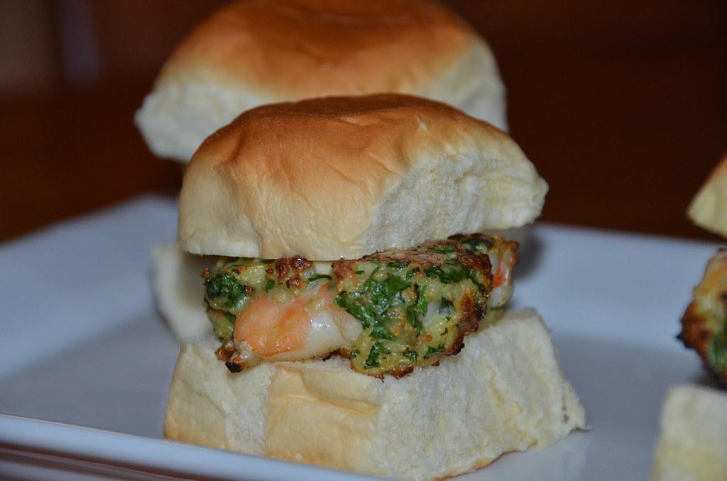 Shrimp Burgers with Wasabi Aioli