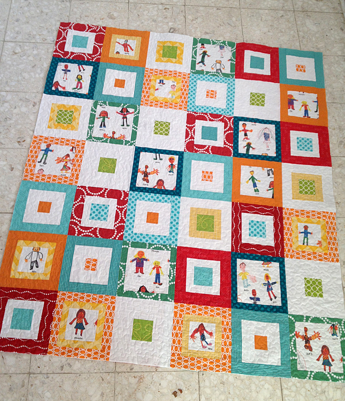 Silent auction Spoonflower quilt