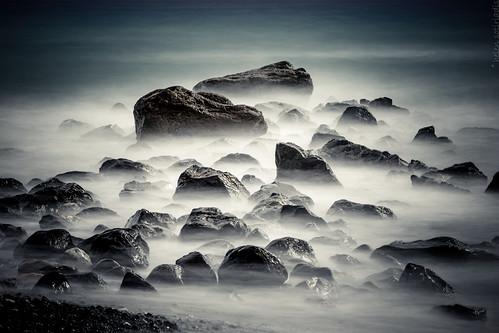 longexposure mist seascape beach water canon landscape rocks published santorini greece cyclades thira canon70200f28lisusm vlychada canoneos6d ayearofpictures2013