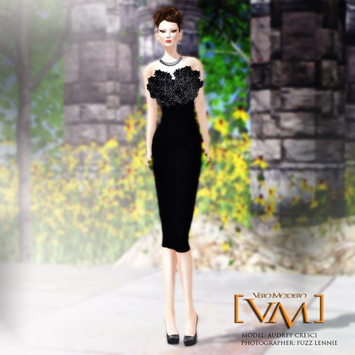 [VM] VERO MODERO _ Beaded Dress Dark