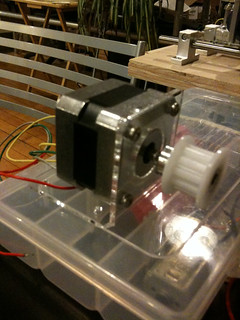 Laser cut acrylic stepper motor mount