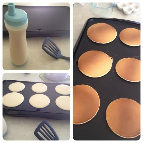 pancakes from scratch by Heather Says