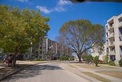 Loma de la Comercial en el reparto Virginia, modelo constructivo de edificios rusos Gran Panel, el primero de su tipo en Santa Clara. Levantado en los 70.  Cuba 2013