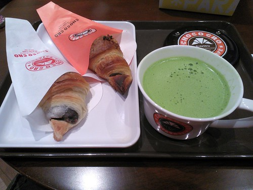 From Left: Daifuku Cro, Choco Cro, and Matcha Latte