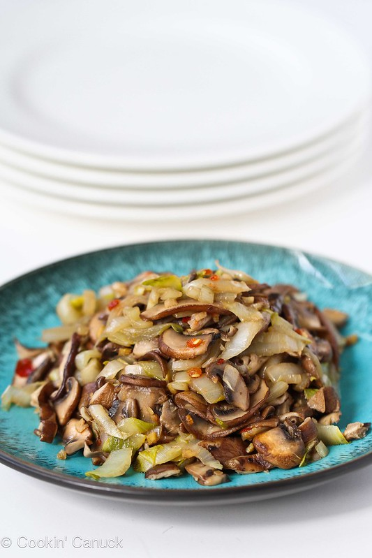 Vegetable Stir-Fry Recipe with Endive & Shiitake Mushrooms #vegetarian #vegan #recipe
