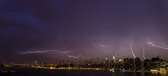 Lightning over Manhattan and WTC