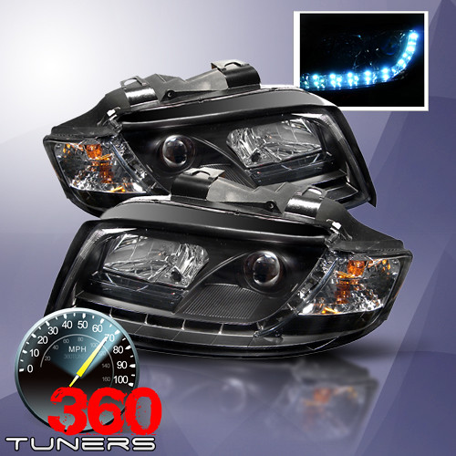 Audi A4 LED-Eyelashes Projector Headlights With HID Lights