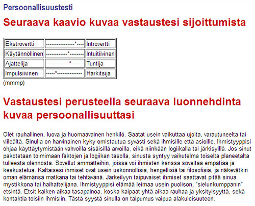 Persoonallisuustesti