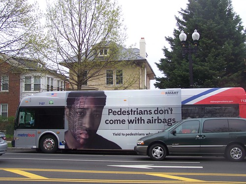 StreetSmart bus ad, pedestrian safety, 2013