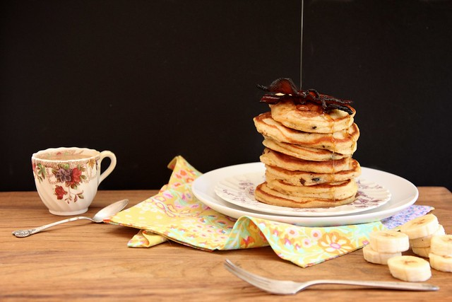 Peanut Butter Bacon Pancakes
