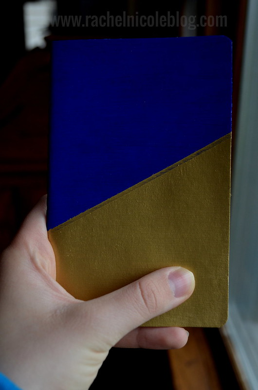DIY Painted Geometric Moleskine Notebook