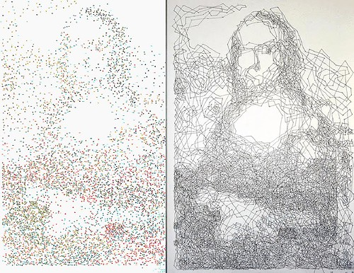 Mona Lisa Connect the Dots by Thomas Pravitte.