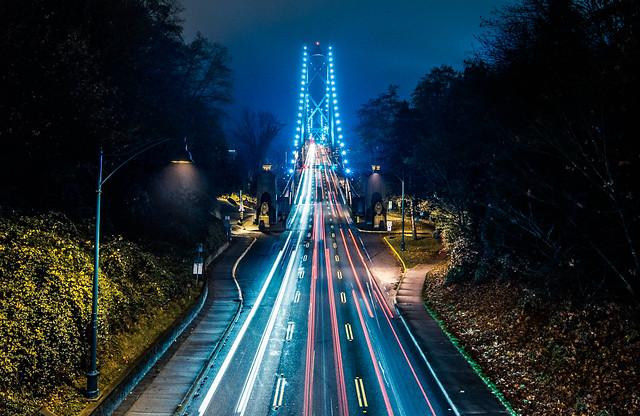 Traffic on Lion's Gate Bridge