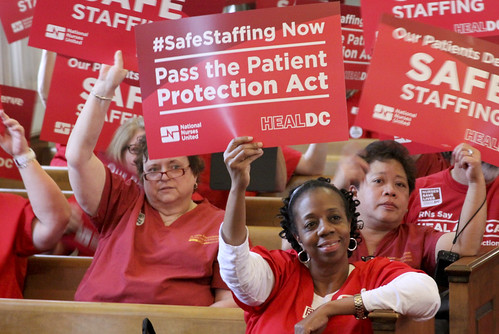 RNs Rally for the passing of the DC Patient Protection Act on April 19, 2013
