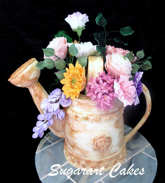 Watering Can Cake by Sharon Wright of Sugarart Cakes