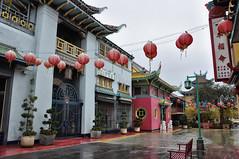 Chinatown bajo la lluvia