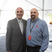 State Representative Selim Noujaim and Alan Richman, director of materials, posed for a photo during a 100th anniversary celebration of Bauer, Inc at their Bristol, CT headquarters.