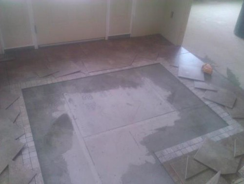 ceramic tile and travertine design work in progress