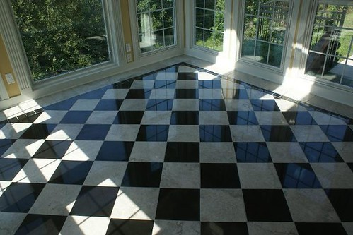 Marble checkered floor