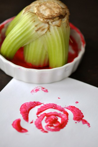 celery prints roses