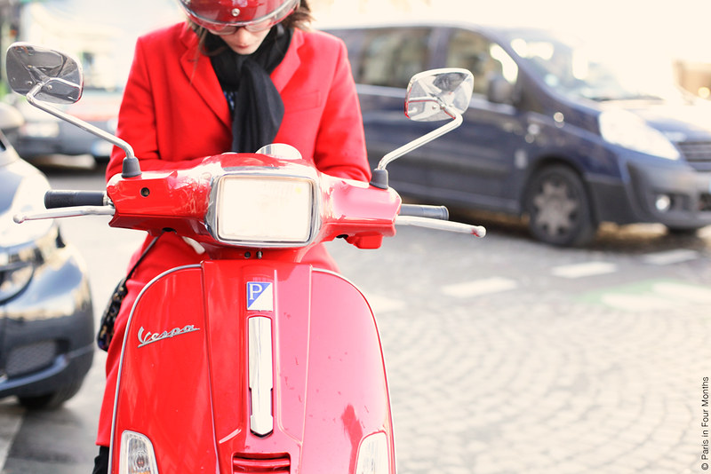 Red Vespa by Carin Olsson (Paris in Four Months)