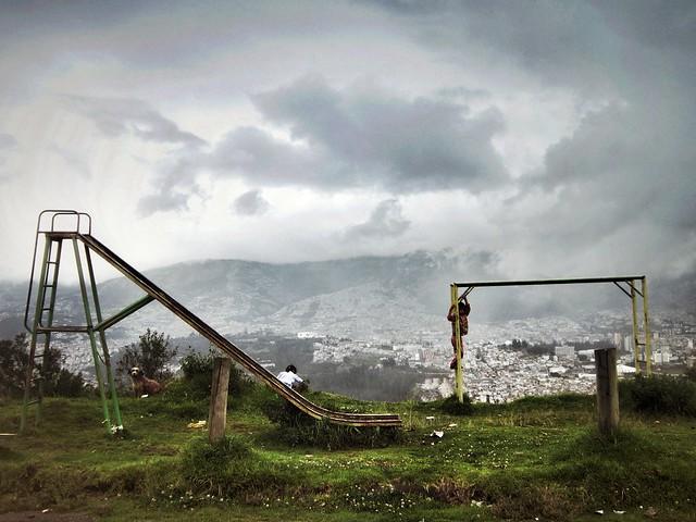 Playground overlooking Quito