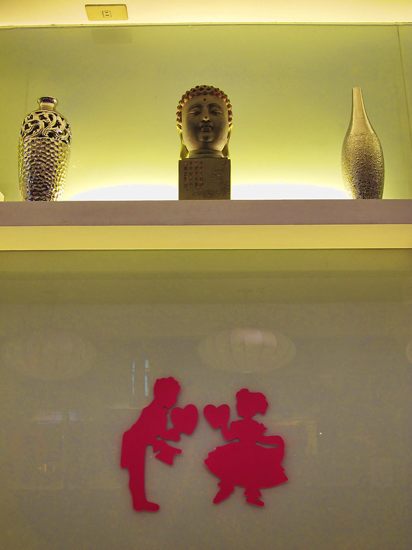 buddha and valentines couple
