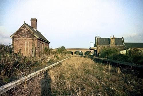 film station norfolk railway disused olympustrip35 dunham