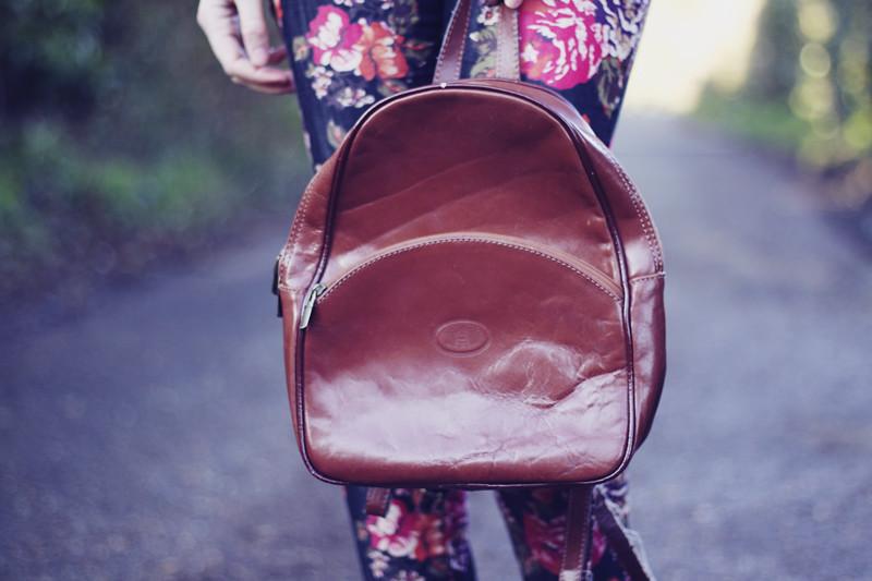 vintage brown rucksack