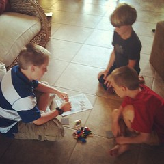 "Ww is for ""workshop"" -as in @LegoEducation Story builder lesson by big brother! #beechrt #homeschool #inspired2learn"