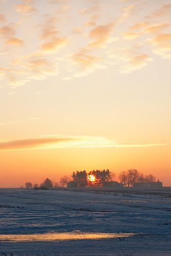 sunrise foggy