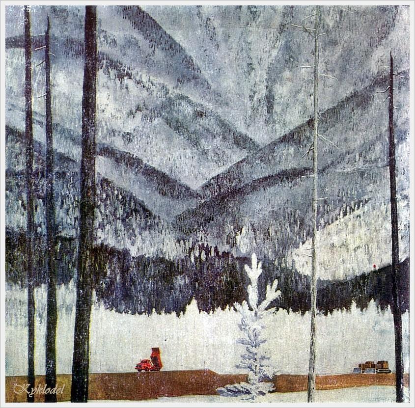 Яковлев Андрей Алексеевич (Россия,  1934 - 2012) «682-й километр будущей магистрали» 1977