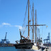 El Alva velero escuela de la marina Laroverket Suecia en el puerto de Las Palmas de Gran Canaria