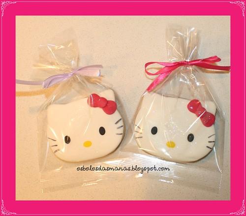 Bolachas embaladas Hello Kitty  lilás arco Iris by Osbolosdasmanas