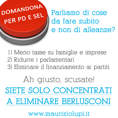 Domanda di Maurizio Lupi a Bersani