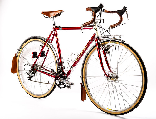 <p>Waterford 22-Series Artisan Rando Bike - complete includes stainless lugs and BB, S&S Couplers, 57mm reach brake compatibility.  Styled in Wineberry over Pure Gold with Vanilla Shake Head Tube.  Photo supplied by Bike Doctor Frederick, Frederick Maryland.</p>