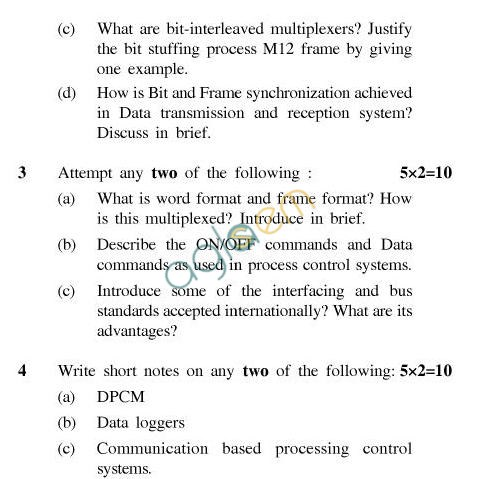 UPTU B.Tech Question Papers -IC-602-Data Acquisition & Telemetry