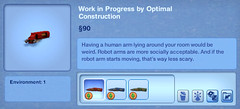 Work in Progress by Optimal Construction