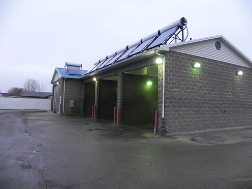 This car wash in Idaho uses a USDA-funded eight-panel solar array to reduce natural gas consumption by 44 percent.