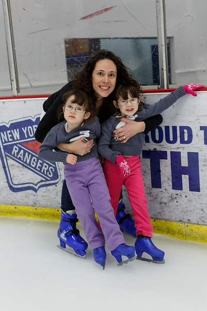 Mommy and Girls on Ice