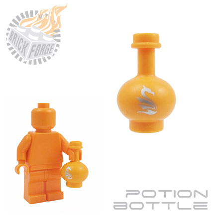 Potion Bottle - Medium Orange (Dragonsbreath)