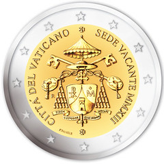 Offical Vatican Sede Vacante coin design