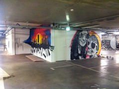 art, room, mural, graffiti,