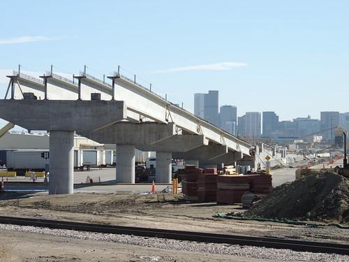 Photo of Utah Junction Flyover commuter rail bridge at BNSF Railway intermodal freight yard