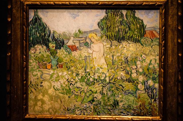 Mademoiselle Gachet dans son jardin à Auvers-sur-Oiseen 1890 - van Gogh