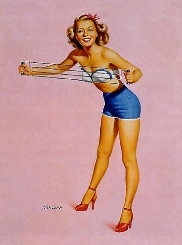 pictures up 60s pin girl