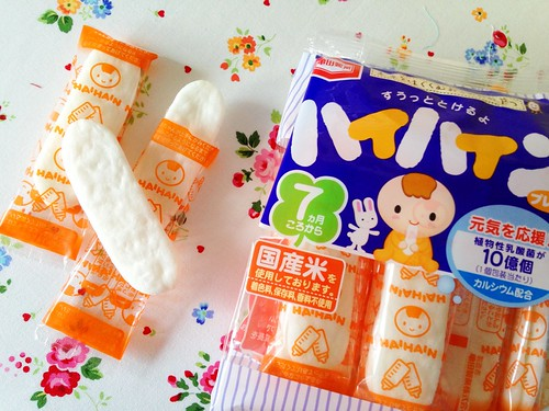 Japanese rice crackers for babies