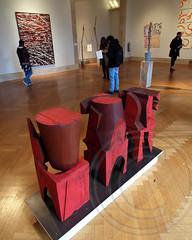Mel Kendrick, Red Block 1, 2 and 3 2007 Wood Sculpture
