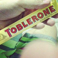 Me and my toblerone.. Bow..
